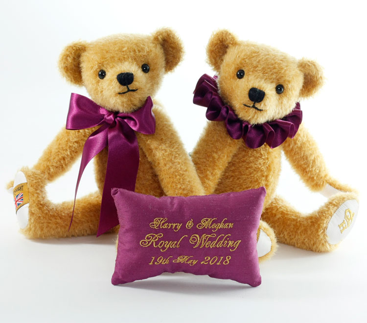 7192c7bc2ea Harry And Meghan 2018 Royal Wedding Teddy Bears by Merrythought at ...