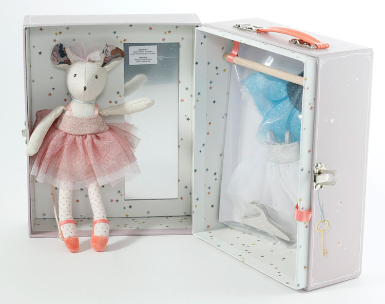 Ballerina Mouse Valise by Moulin Roty