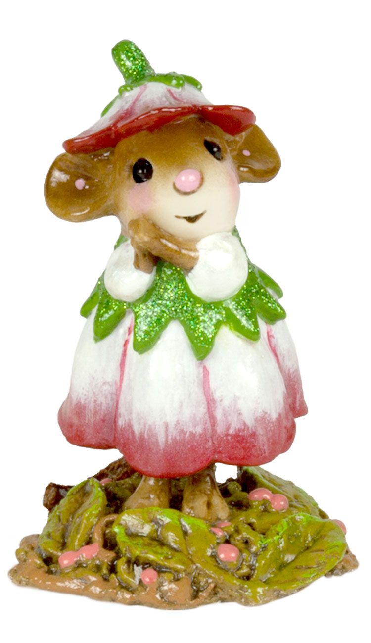 Wee Flower Mouse M-640a January by Wee Forest Folk