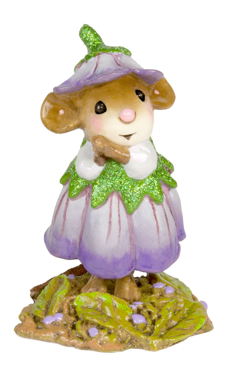 Wee Flower Mouse M-640b February by Wee Forest Folk