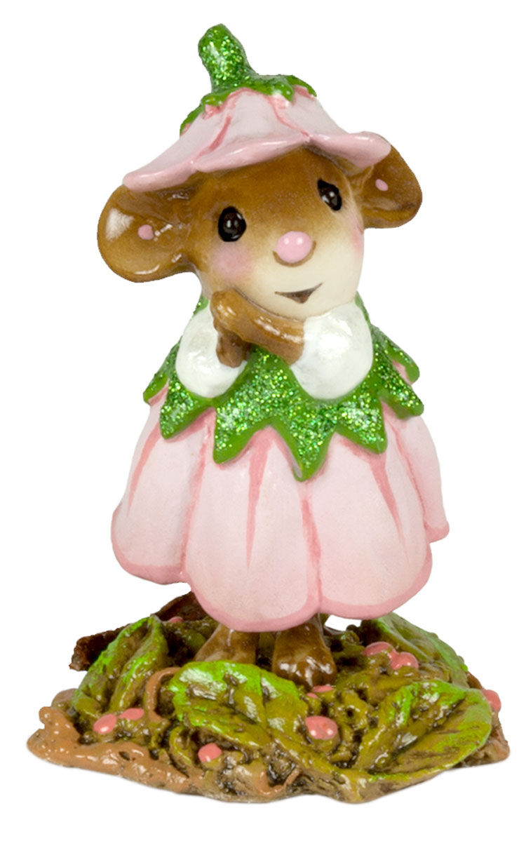 Wee Flower Mouse M-640d April by Wee Forest Folk