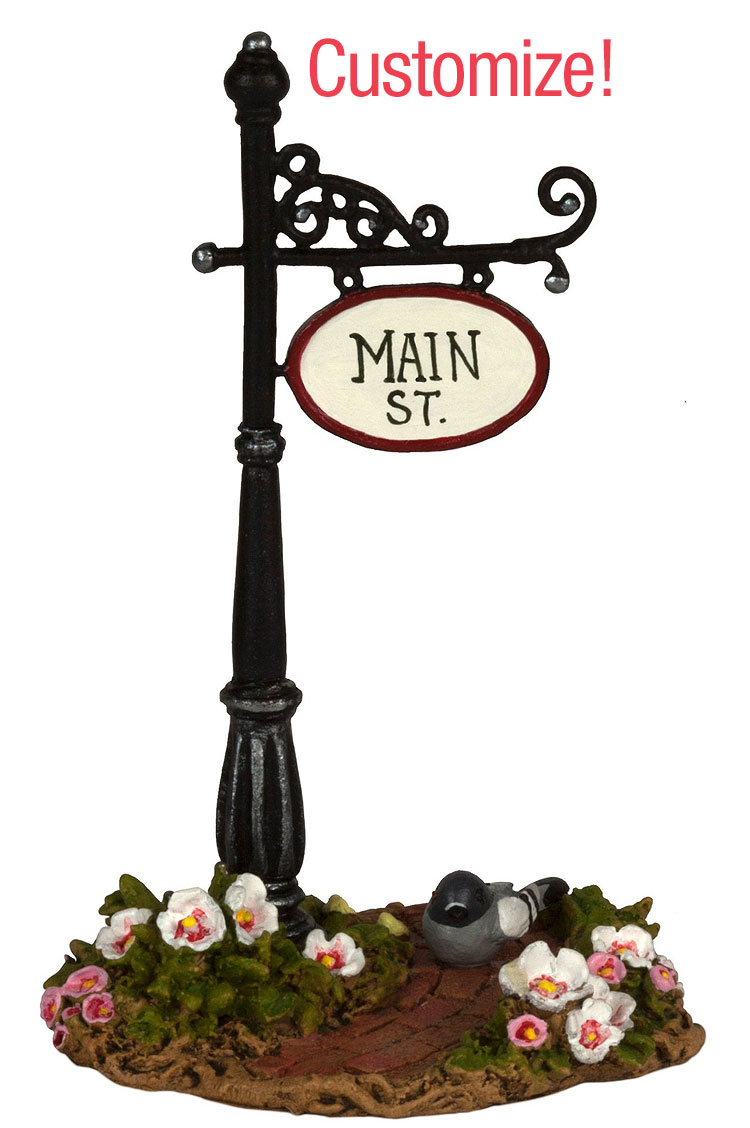 Custom Main St Sign Post A-49 by Wee Forest Folk