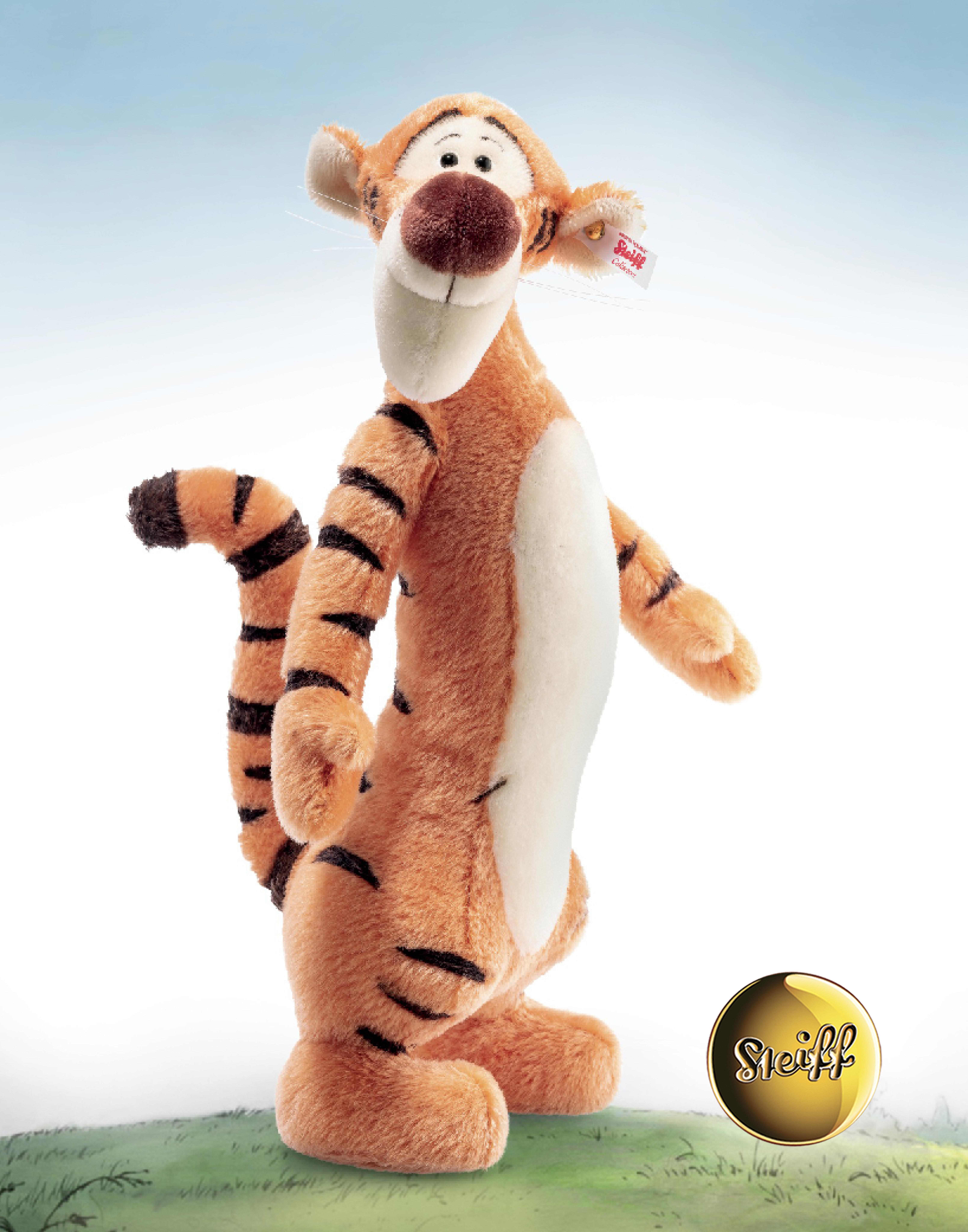 Large Contemporary Tigger, 50th Anniversary Edition EAN 683404 by Steiff