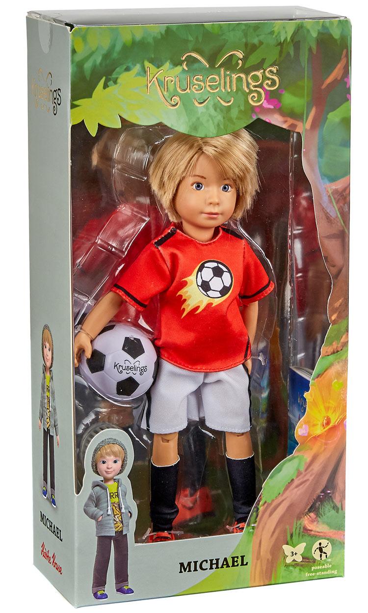 Kathe Kruse Free Shipping! Kruselings Doll Michael Soccer Set