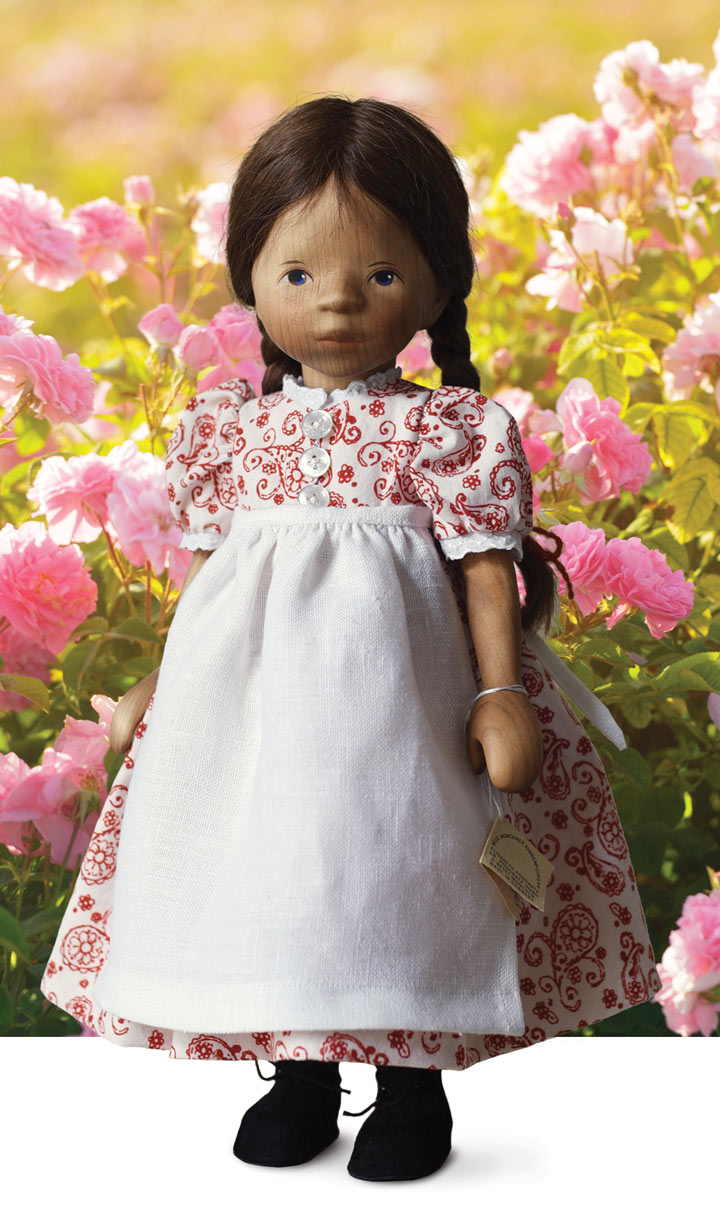 African American Girl In Red And White Print H363e by Elisabeth Pongratz