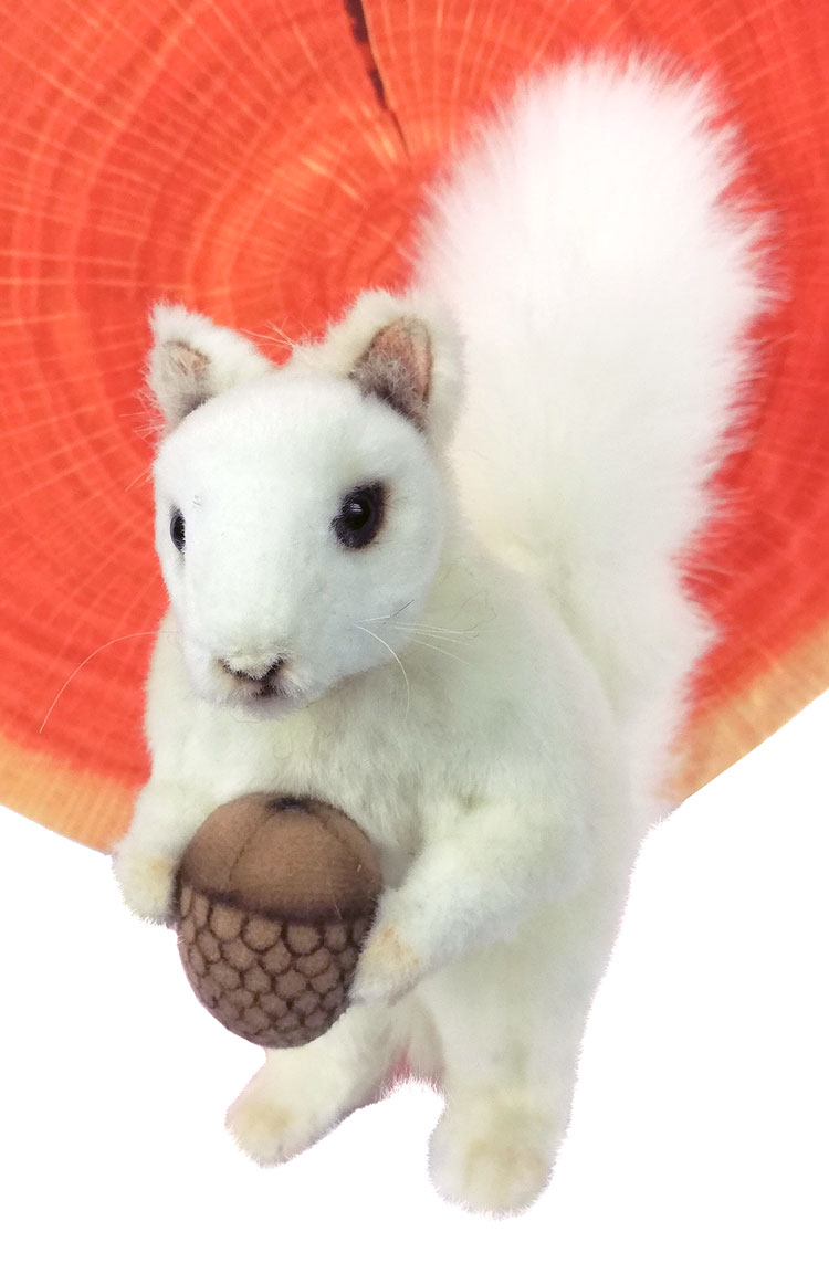 White Squirrel With Nut 7742 by Hansa