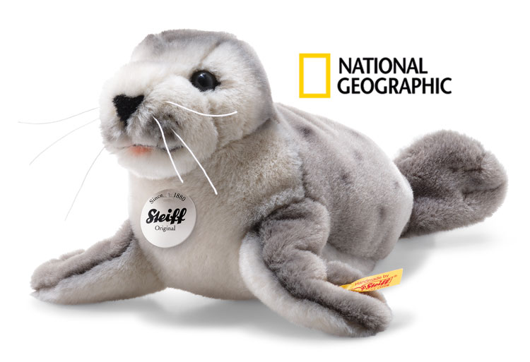 National Geographic Sheila Baby Seal EAN 063688 by Steiff