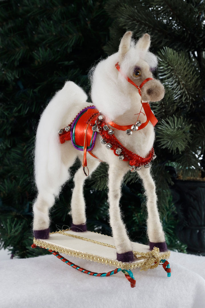 Jingle Bell Rock Rocking Horse by Mikki Klug