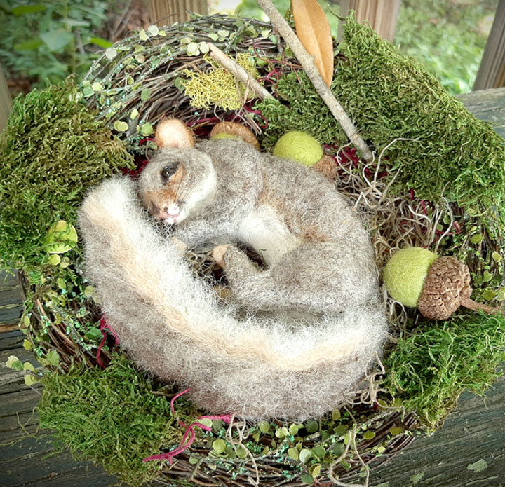 Fall Nesting Squirrel by Stevi T's Alpaca Encounters