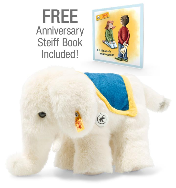 Little Elephant  With Free Book, 140 Anniversary EAN 084119 by Steiff