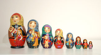 Mother Wooden Matryoshka Doll Set by Volga River Trading Co.