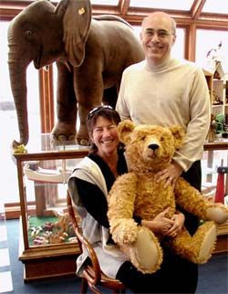 Danny And Barrie with Maximillian Teddy Bear