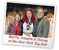 Danny and Barrie Shapiro with Annette Himstedt at Toy Fair