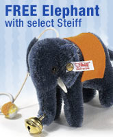 Free Steiff Moahir Elephant with Forrest Teddy, 1934 Replica and 1912 Replica Only at The Toy Shoppe