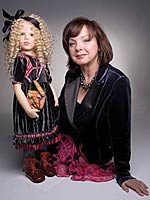 doll artist Hildegard Gunzel with Joy