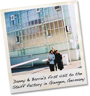 Danny and Barrie Shapiro at the Steiff Archives in Germany